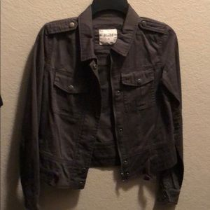 Blue/grey jean jacket new without tags
